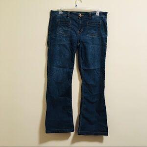 CAbi Retro 70s Style Dark Wash Jeans 16
